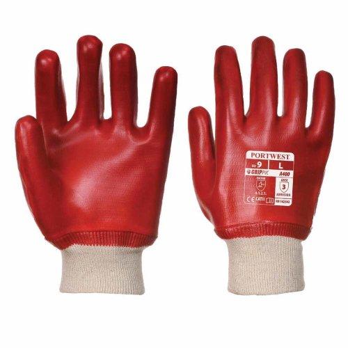 sUw - PVC KnitWrist Aqua Grip Glove (1 Pair Pack)