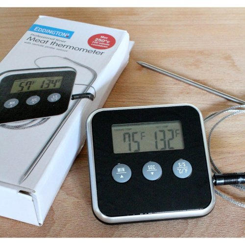 Digital Timer With Meat Thermometer - Eddingtons Probe Remote Professional -  meat thermometer timer digital eddingtons probe remote professional