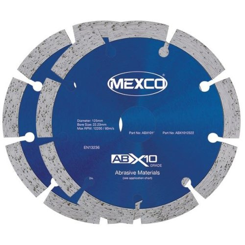 """Mexco ABX 125mm / 5"""" Wall Chasing Diamond Blade Twin Pack"""