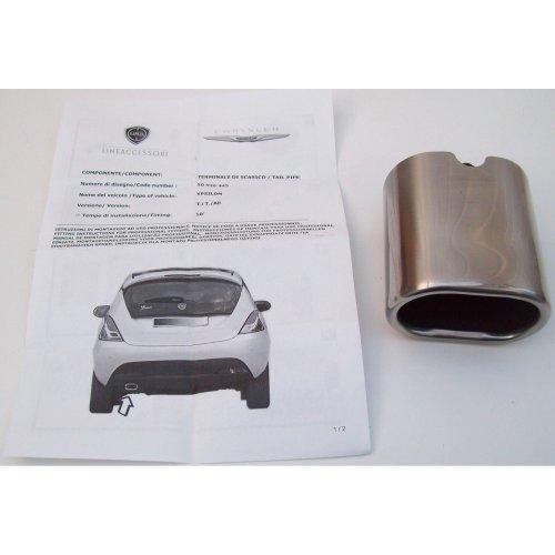 Chrysler Ypsilon Genuine New Exhaust Tailpipe Stainless Chrome End Cap 50926445