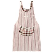 Japanese Style Thick Cotton & linen Cloth with Pocket Unisex Cooking stripe Aprons?red