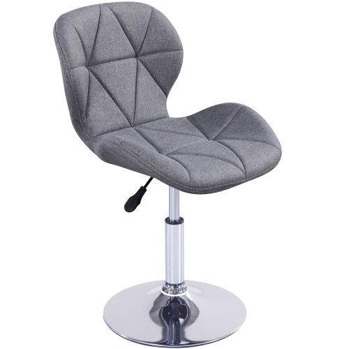 Cushioned Swivel Chair | Small Adjustable Computer Chair