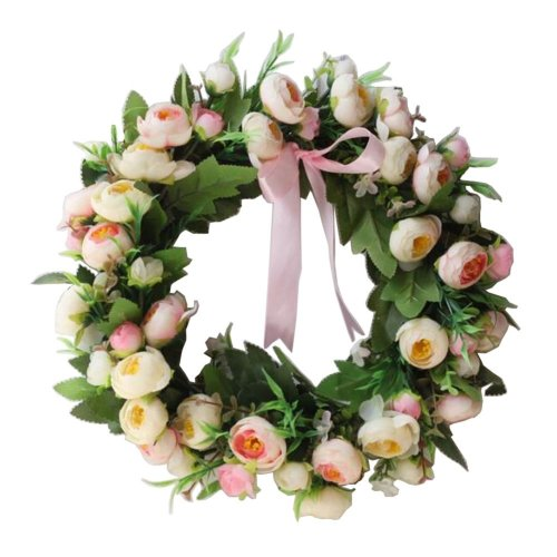 Artificial Wreath Hanging Floral Garland Door Wreath Wedding Decor #01