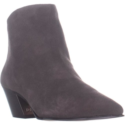 DKNY Bason Back Zip Ankle Boots, Brown Suede, 6.5 UK