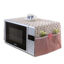 Floral Microwave Oven Accessory Protective Cover Dust-proof Covers, B