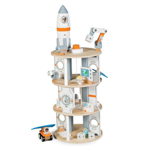 Tidlo Wooden Space Station Playset
