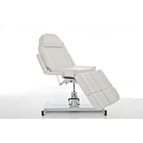 Split hydraulic facial bed