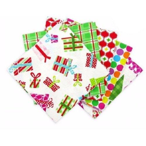 Fat Quarter Bundle - 100% Cotton - Modern Christmas - Pack of 5