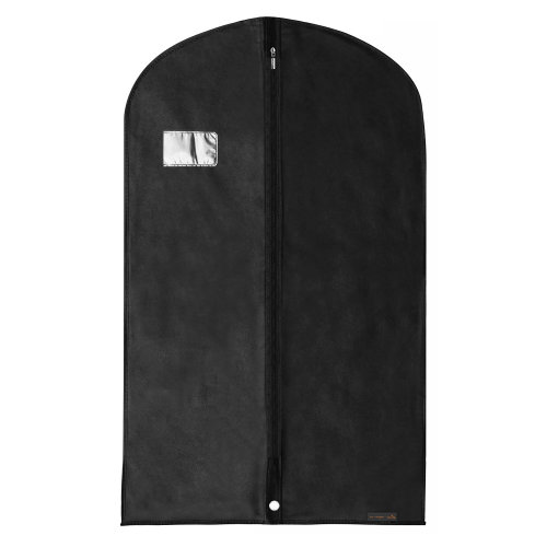 Hangerworld Black Breathable Suit Covers Clothes Protector Bags 100cm