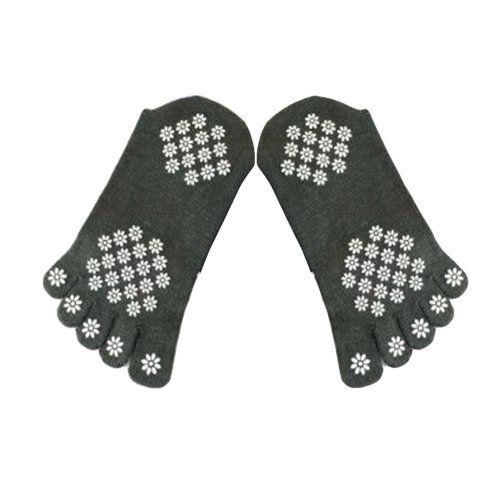 Women's Cotton Air Yoga Spcks Non-Slip Yoga Socks, M, Gray