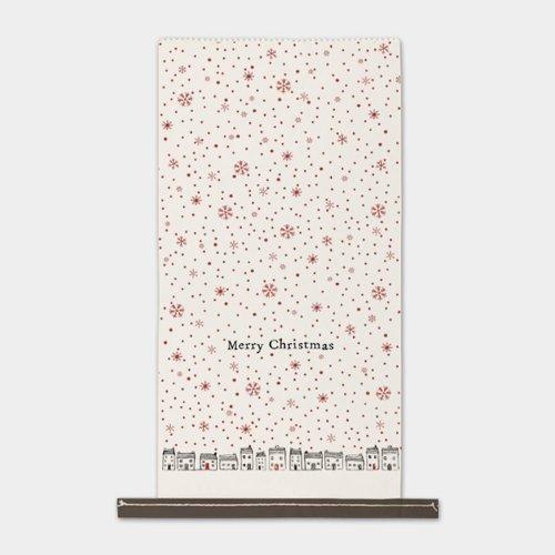East of India Paper Sack WHITE Merry Christmas Gift Xmas