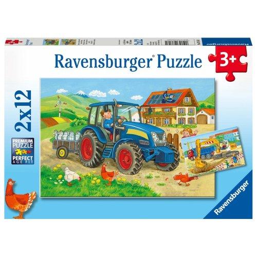 Ravensburger Puzzle 07616Building Site and Farm
