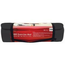 Black NBR Exercise Mat & Carry Strap | Non-Slip Yoga Mat