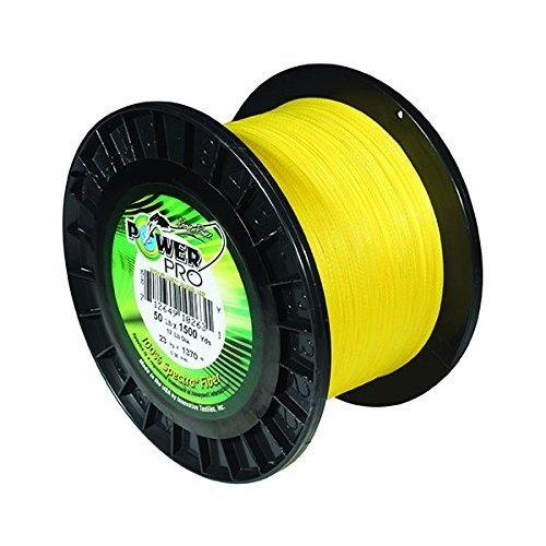 PowerPro Power Pro 21100400100Y Braided Spectra Fiber Fishing Line, 40 Lb/100 yd, Hi-VIS Yellow