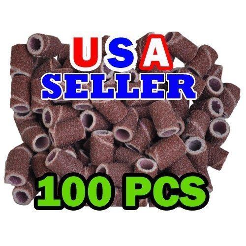 100 Pc Sanding Bands Nail Manicure Pedicure 120 GRIT FILE SAND PIECE SET
