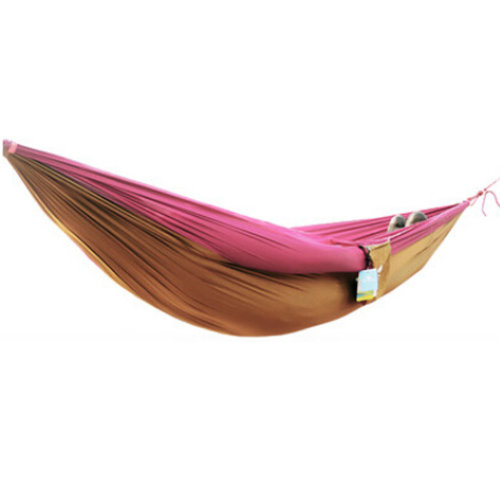 Multifunctional Camping Hammock Hanging Bed Double Size[2.6*1.3m]Red/Camel