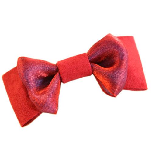 Beautiful Red Yarn Bow Hair Claw Fashion Hair Clip Creative Hair Claw/Hairpin