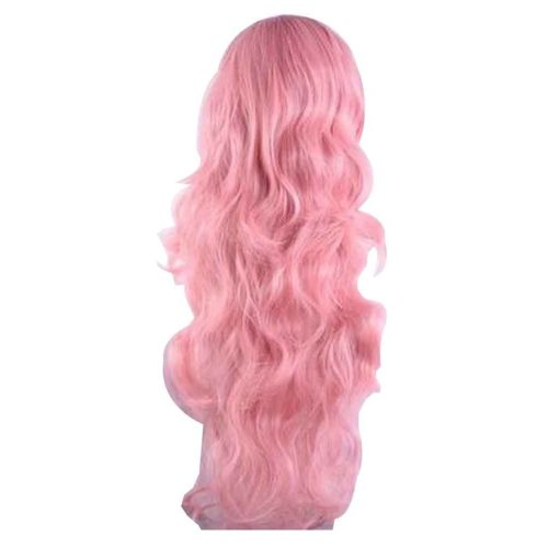 Cosplay Long Wavy Wig for Lolita Halloween Party Anime Fans [Pink]