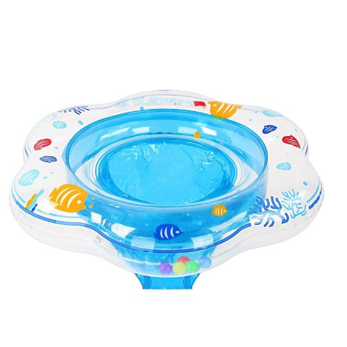 Samione Baby Swimming Ring, Toddler Safety Aid Swim Float with Seat / Skin Care PVC Inflatable Ring for 3 Months-3 Years Children, Ideal for Kids...
