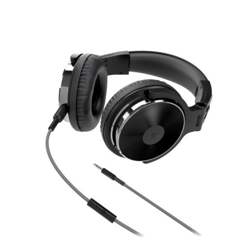 KitSound DJ Headphones Over Ear Wired - Black