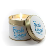 Lily Flame Candle in a Tin - Fresh Linen