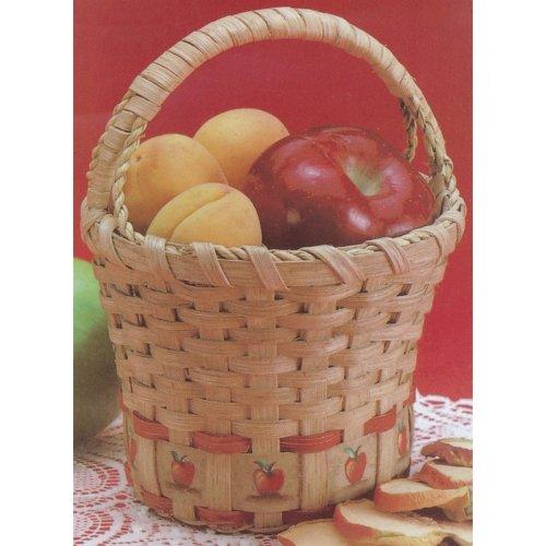 "Burgundy Hill Basket Kit-Apple Basket 6""X6""X9"""