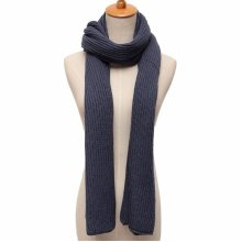 Men Women Pure Color Knitted Scarf Soft Thickness Woolen Scarf Warm Long Scarves