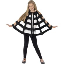 Smiffy's 44413 Spider Cape (one Size) -  spider cape halloween fancy dress costume boys web black child girls outfit