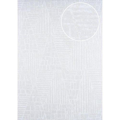 ATLAS HER-5138-1 Graphic wallpaper shimmering white oyster white 7.035 sqm