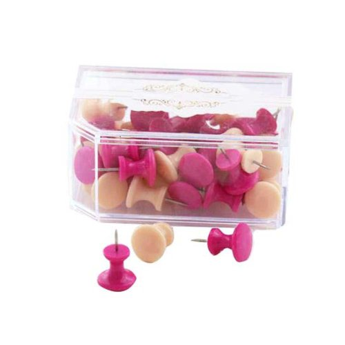 Creative Pushpins/Office Home Supplies 50 Pieces Of Pushpins-Red+Pink