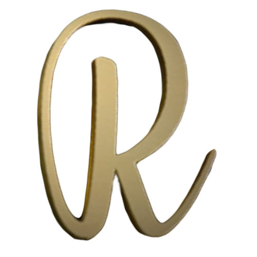 DIY Brass Address Letters Metal House Numbers and Letters Decorative House Door Signs, Letter R