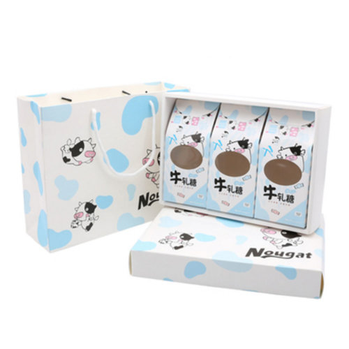 3PCS Cute Boxes WithHandle For Pack Candies,Nougat,OtherGift,in Party,Birthdays,and other Events,#F