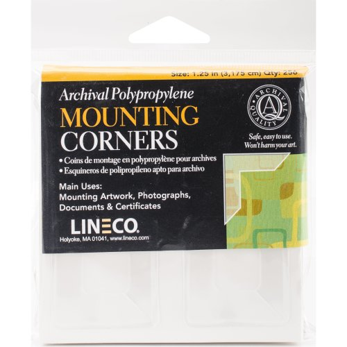 """Lineco Polypropylene Photo Mounting Corners 256/Pkg-Clear Full View 1.25"""""""