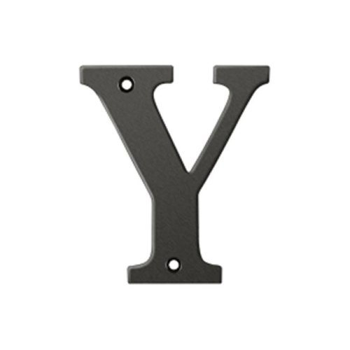 Deltana RL4Y-10B 4 in. Residential Letter Y, Oil Rubbed Bronze - Solid