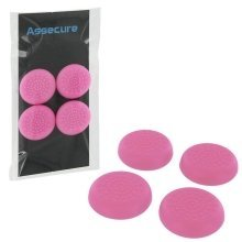 Assecure Pink TPU Protective Analogue Thumb Grip Stick Caps For PS4 Controllers