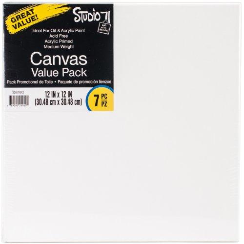 "Studio 71 Stretched Canvas Value Pack 7/Pkg-12""X12"""