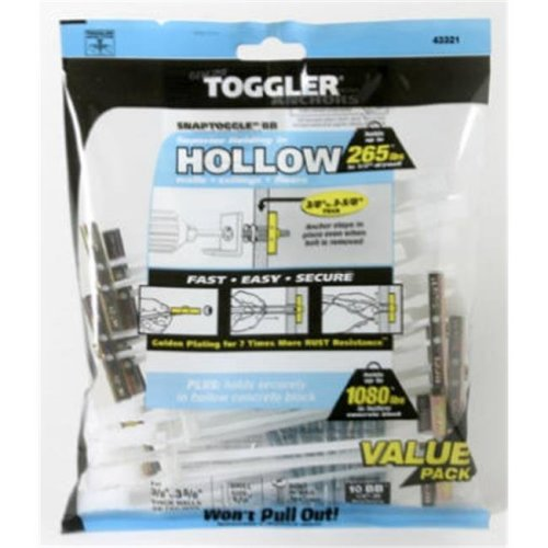 Mechanical Plastics 50425 0.25-20 in. Toggler Snaptoggle BB Hollow Wall Anchors