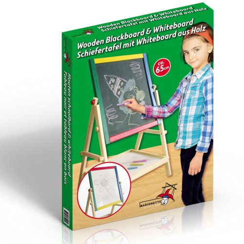 2 In 1 Wooden Blackboard & Whiteboard With Stand For Kids For Drawing & Writting