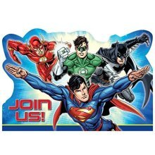 Justice League Postcard Invitation - /8