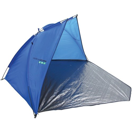 Yellowstone Beach Shelter Tent with Closure (Blue/Charcoal)