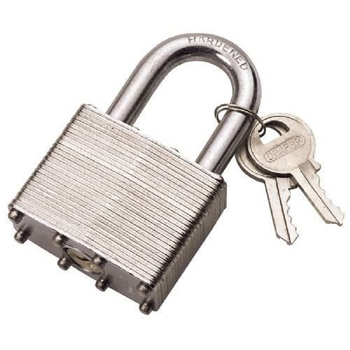 Laminated Steel Padlock 30mm - Draper 14019 -  draper 30mm laminated steel padlock 14019