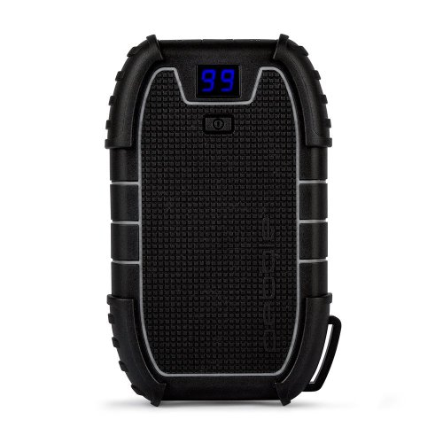 Veho Pebble Endurance Portable Power Bank | Water Resistant | Battery Pack | Rechargeable | 15,000mAh | 2 x USB Ports | Phone Charger | LED Digital...