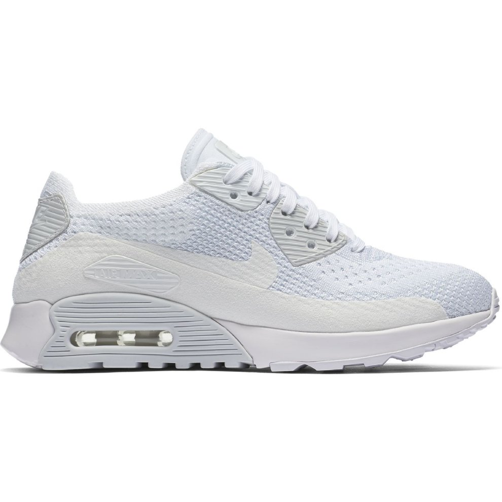 buy popular 3e5a4 67207 New Womens Nike Air Max 90 Ultra 2.0 Flyknit Trainers White 881109 104 on  OnBuy