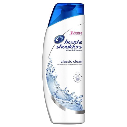 Head & Shoulders Anti-Dandruff Shampoo Classic Clean Hydrates Softens Hair 500ml