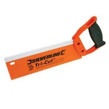 250mm Silverline 12tpi Tri-cut Tenon Saw -  tenon saw tricut 12tpi 250mm silverline 456935