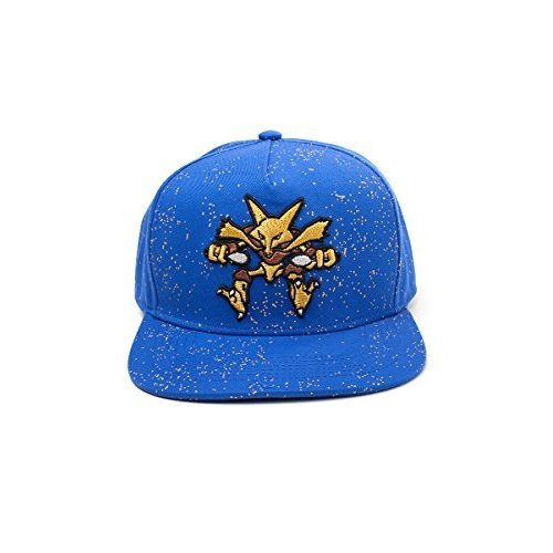 3343dd3b Pokèmon Official Pokemon Alakazam Character Logo Snapback Baseball Cap Hat    Blue (New) on OnBuy