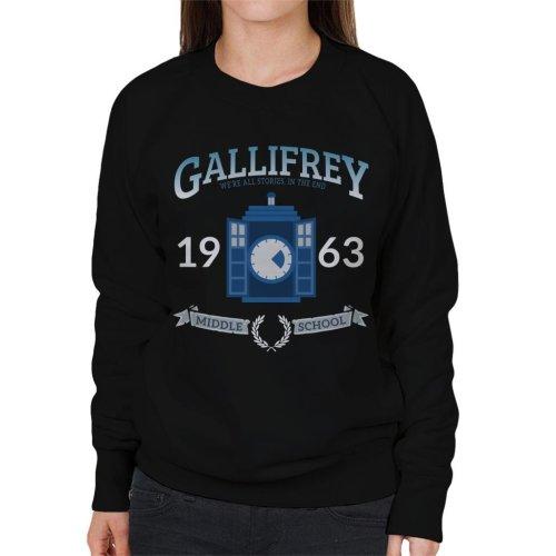 Gallifrey Middle School Doctor Who Women's Sweatshirt