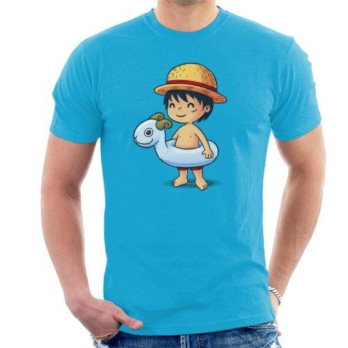 b4bc25b1 One Piece Cute Beach Monkey D Luffy Men's T-Shirt on OnBuy