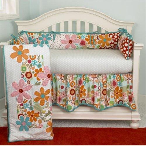 Cotton Tale LZ4S Lizzie 4 Piece Crib Bedding Set