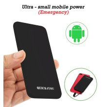 Power Bank 5000mAh, Credit Card Size Pocket,Wallet Fast Charging Power Bank with Built-In Micro USB & 1 port output Fast charging
